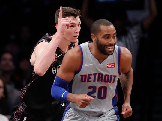 Nets forward Rodions Kurucs, left, was a 2nd-round pick in 2018. Pistons director of player personnel Gregg Polinsky, who left the Nets shortly after that draft, was instrumental in the scouting and selection of Kurucs.