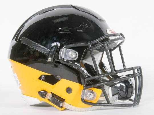 Red Lion football helmet.