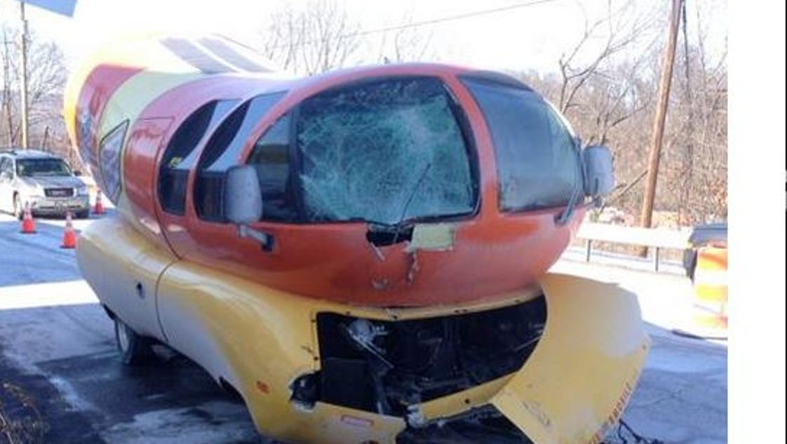 Oscar Mayers Wienermobile Skids Off Road Crashes moreover 10 Flavorful Facts About Wienermobile also Oscar Mayer Wienermobile Wreck further 23497437 also Oscar mayer wienermobile for sale. on oscar mayer wienermobile accident