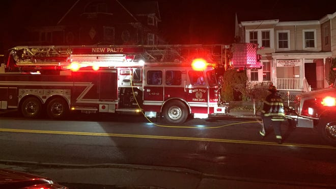 New Paltz Fire Department responded to a roof fire on North Chestnut Street in New Paltz Friday night.