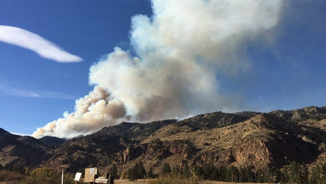 A prescribed burn near Red Feather Lakes sent smoke wafting over the Front Range during the weekend.