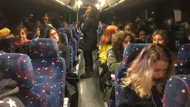 Women rode buses to Washington on Saturday to tell the world what they've lost and what they hope to gain from a Trump presidency.