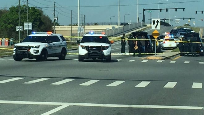 An Orange County Sheriff's deputy shot and wounded a person near a Walmart in Orlando Tuesday.