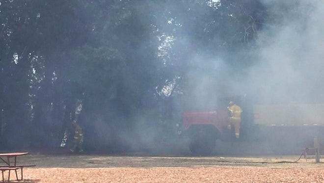 Cedar City Fire Department responded to a vegetation fire at the KOA Campground Saturday, June 6.