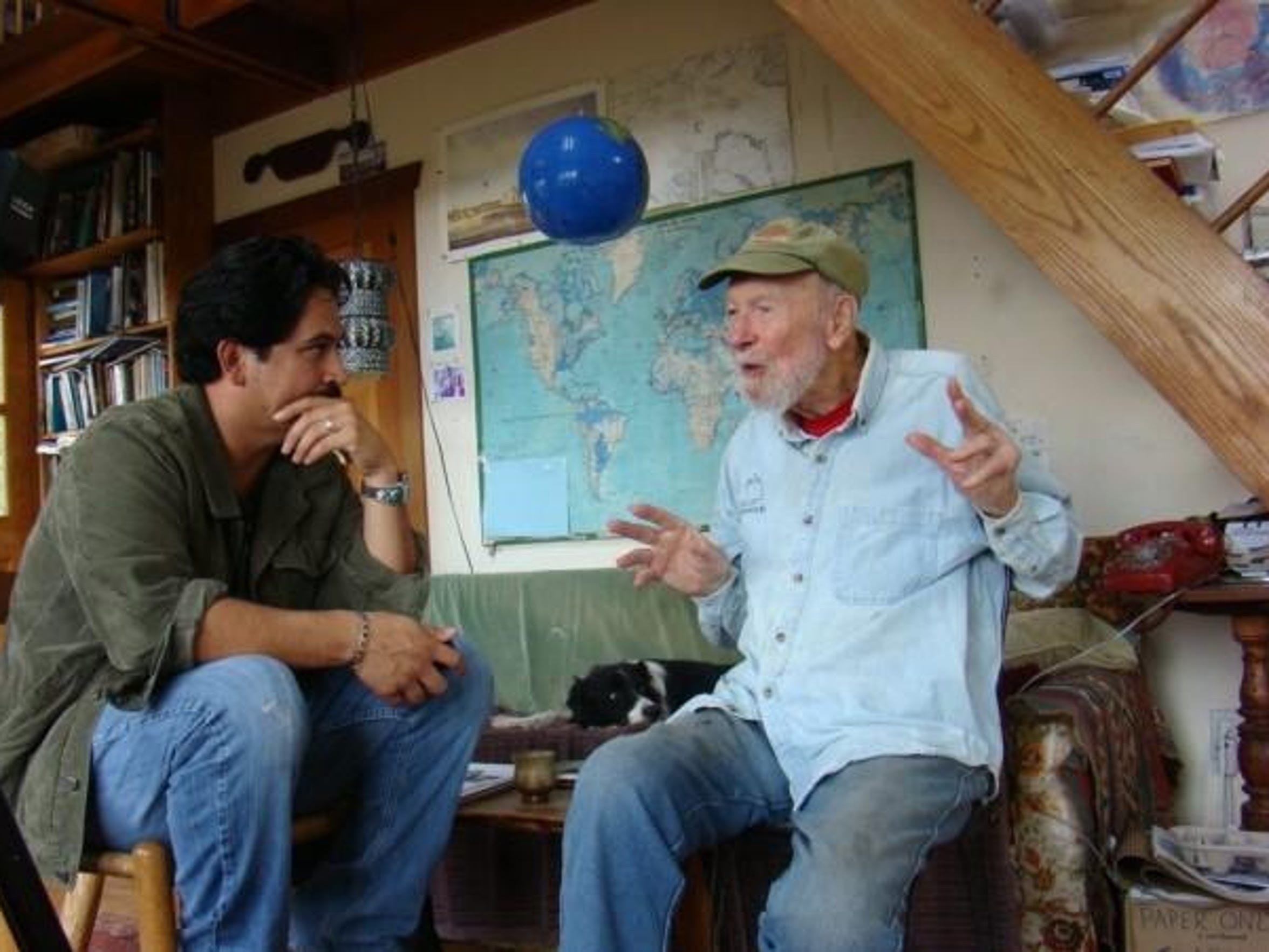 "Tim Z Hernandez and Pete Seeger talk about """"All They"