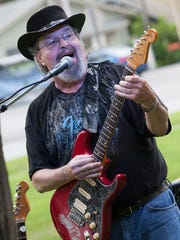 Nobby Reed of Highgate Springs jams the blues with the Nobby Reed Project in the Swanton Village Green.