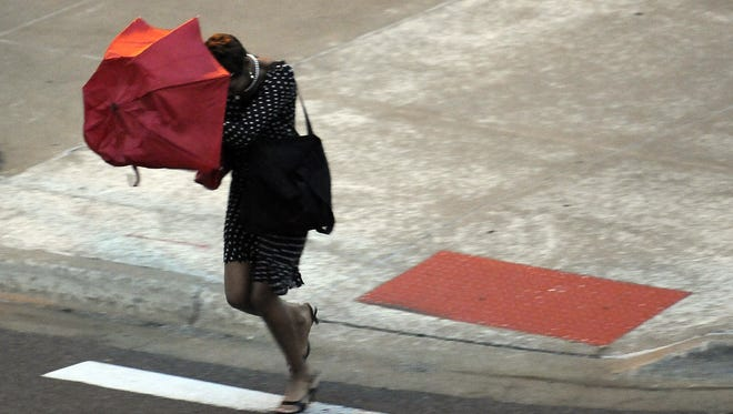 A high wind warning will be in effect from 7 a.m. to 7 p.m. Wednesday.