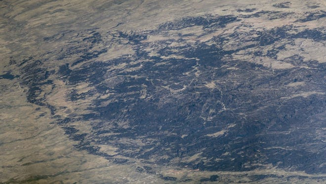 Astronaut Jeffrey Williams took this shot of the Black Hills from space on Aug. 22, 2016.