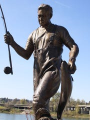 A bronze statue of former Gov. Tom McCall was installed in 2010 at Riverfront Park in Salem.