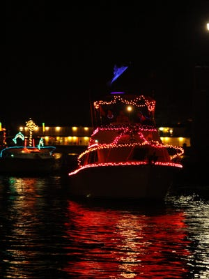 The 4th Annual Holiday Lighted Boat Parade from Hudson Park to Glen Island Park in New Rochelle on Aug. 11, 2012. Rich Unda for the Journal News.
