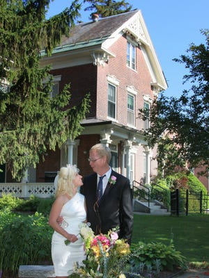 Volunteers Tina Brigham and Steve Carlsen were married recently at the Ronald McDonald House in Burlington.