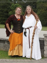 Veronica and Linda Juaire pose Sunday at the Celtic Fest in Brownsville.