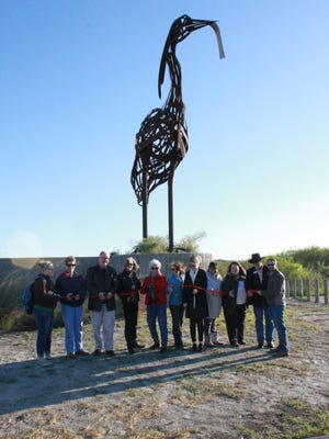 """The City of Corpus Christi hosted a public art dedication for 'The Great Heron"""" on Saturday, Nov. 19, 2016, at the Oso Bay Wetlands Preserve."""