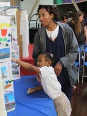 Five-year-old Tamerilin Nichols, a kindergartener at