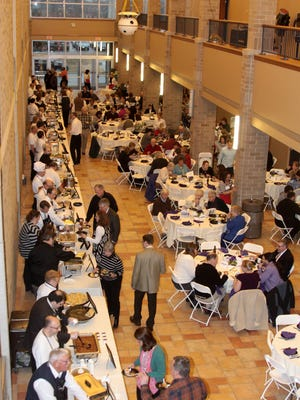The view from a previous Domestic Chef event in Manitowoc. The evening is a benefit for Manitowoc's Domestic Violence Center.