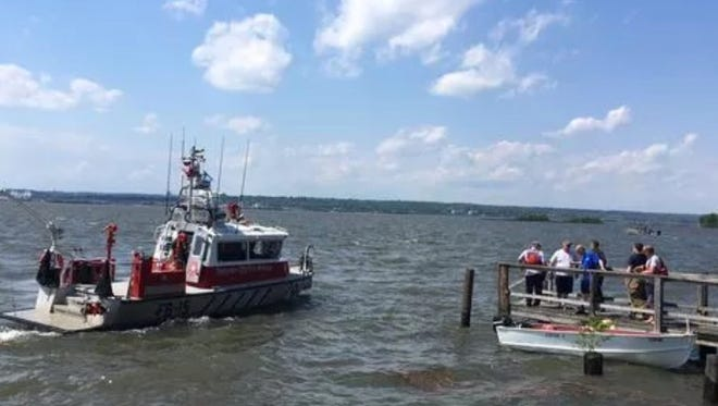 Several fire departments and Delaware State Police responded to the search, assisted by boats and a helicopter from the U.S. Coast Guard.