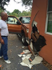 A car struck Rita's Daycare Center in Fort Myers on