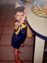 Dalton Sampson around age 2 when he was walking and