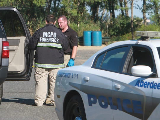 Keyport,  NJ    Police and investigators from the