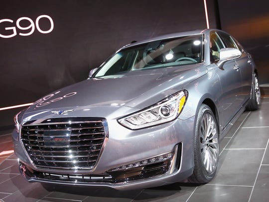 A Genesis 2017 G90. When Hyundai was first introduced
