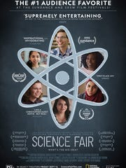 "The movie poster for ""Science Fair"" features some of"