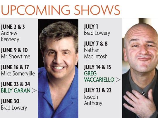 Upcoming shows at Bananas Comedy Club