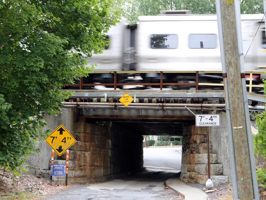 North White Plains' Fisher Ave. tunnel is prominent