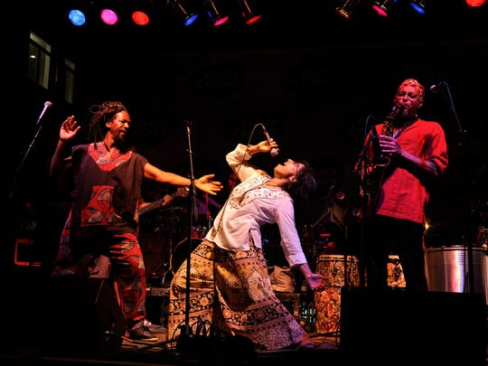 Funkadesi is a blended group of musicians from several different cultural backgrounds that blends those styles of music.