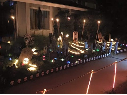This Halloween display on Pamela Street in Oxnard has all the bells and whistles.