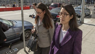 Ellen Pao (R), a former venture capitalist at Kleiner Perkins Caufield and Byers, leaves the San Francisco Civic Center Courthouse with her attorney Therese Lawless in San Francisco, CA on Tuesday, February 24, 2015
