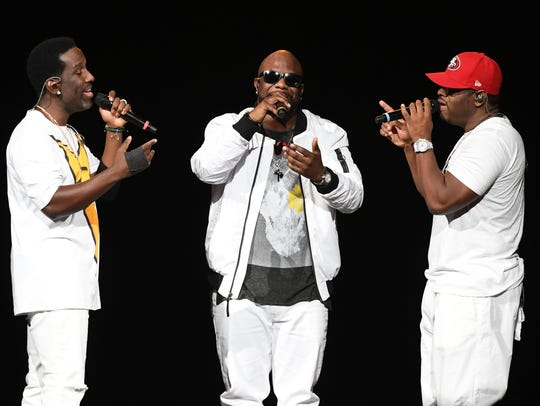 LAS VEGAS, NV - MAY 28:  (L-R) Singers  of Boyz II