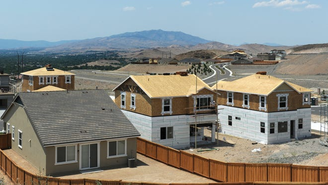 Houses go up in Sparks on in 2013.
