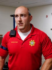 Utility Response Team Officer Mike Schoeppner at the