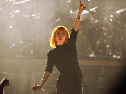 Hayley Williams of Paramore performs at the Grand Ole