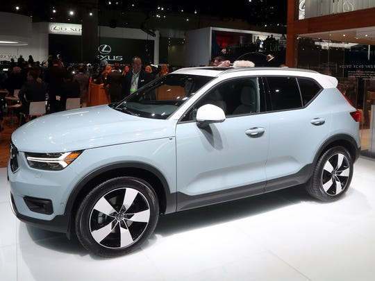 The 2019 Volvo XC40 is displayed at the LA Auto Show in Los Angeles, November 29, 2017