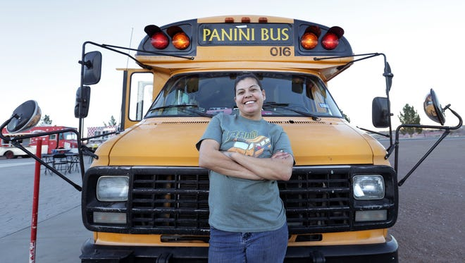 Panini Bus owner Cynthia Bertoldo stand proudly in front of her dream. Bertoldo began her culinary journey later in life and is enjoying every minute of it.