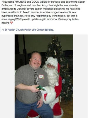 Special Ministries of Livingston County posted this status about Cedar Butler on Monday.