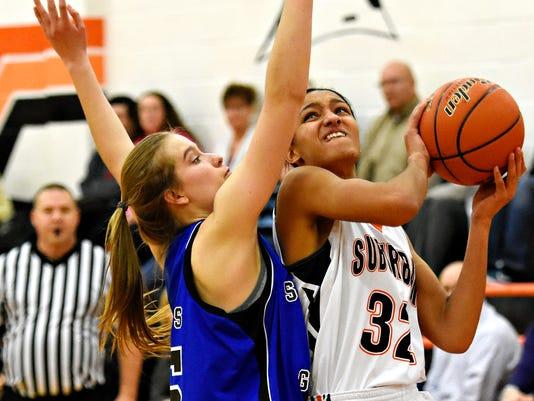 Spring Grove vs York Suburban girls basketball