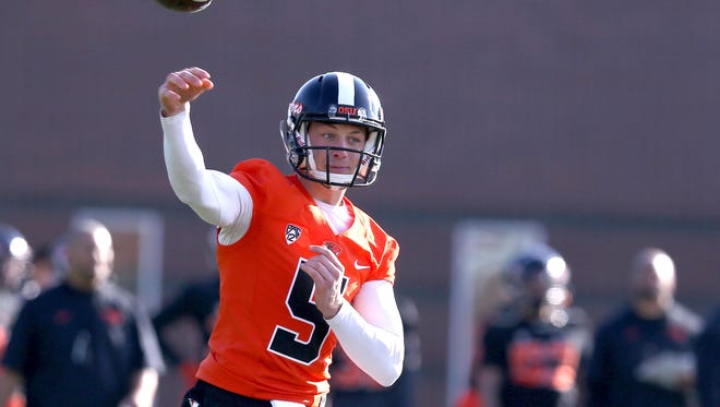 Oregon State's Brent VanderVeen made the switch from quarterback to tight end last spring.