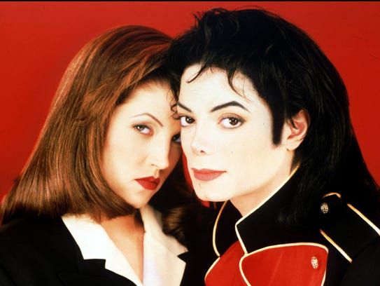 Michael Jackson and Lisa Marie Presley-Jackson are