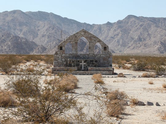 This remnants of a church that was built and was part