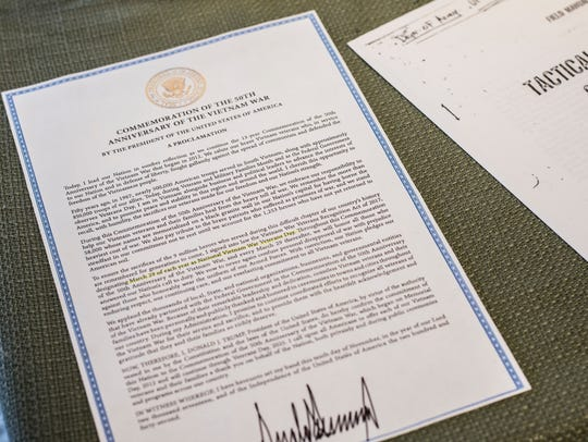 A copy of a proclamation by President Donald Trump