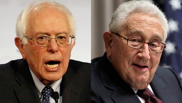 Bernie Sanders and Henry Kissinger