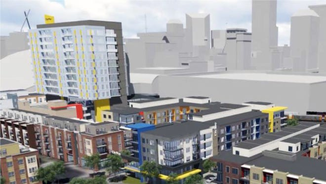 Buckingham Companies proposed a $110 million CityWay Phase 2 development that will include seven new buildings, including a nine-story tower.