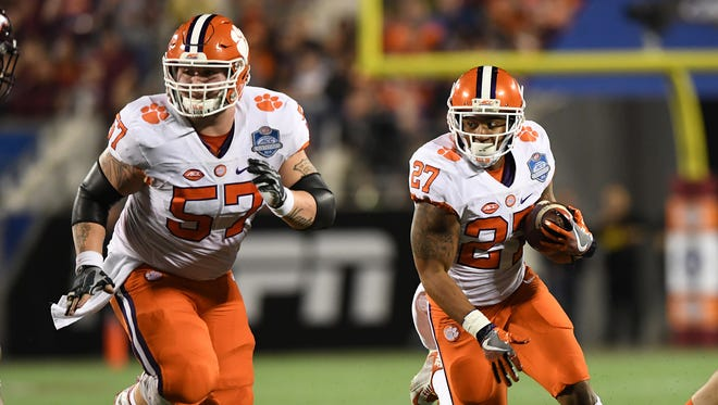 Clemson running back C.J. Fuller (27) during the 2nd quarter of the ACC Championship at Camping World Stadium in Orlando on Saturday, December 3, 2016.