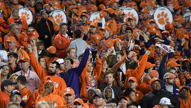 Clemson fans during the during the 4th quarter on Saturday, November 25, 2017 at Carolina's Williams Brice Stadium.