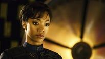 Starfleet officer Michael Burnham is a human who was raised on Vulcan by Ambassador Sarek.