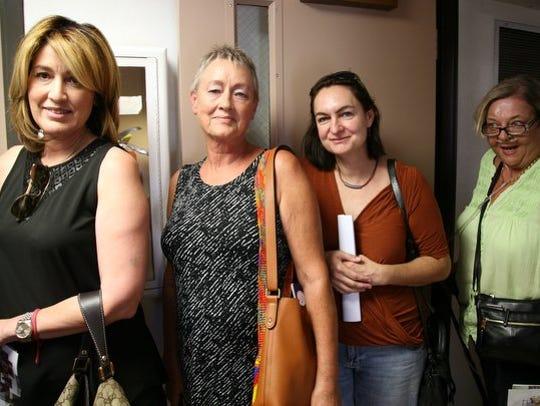 Rebecca Cepeda, left, Gwen Billingslea, Lisa Magnano,