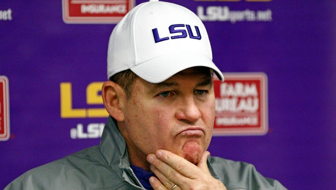 LSU head coach Les Miles says his team is out of sync.