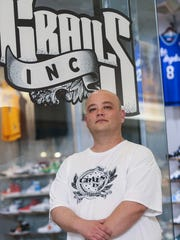 Grails Inc. owner Paul Zigrang stands outside of his Washington Square Mall store. Grails Inc. specializes in hot-selling new and used sneakers.